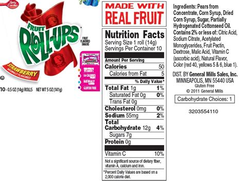 fruit roll up ingredients fruit roll ups ingredients images