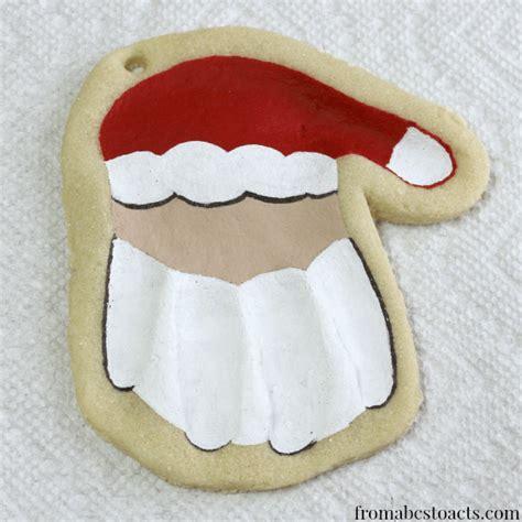 handprint ornaments print santa keepsake ornament from abcs to acts