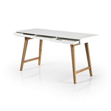 white desk with wooden legs bethan laptop desk in matt white with wooden legs 30708