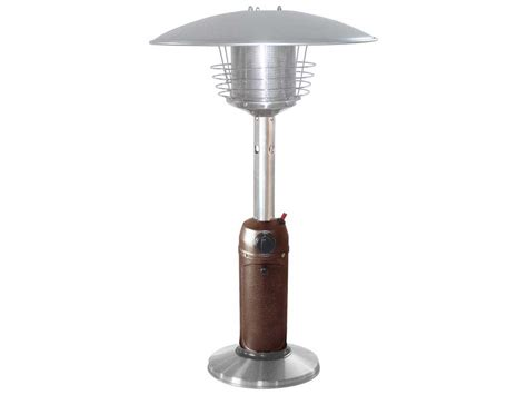 Az 38 Portable Table Top L Hammered Bronze With Stainless Patio Heater L