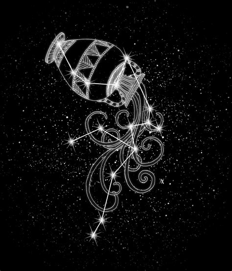 aquarius constellation tattoo aquarius the water bearer aquarius