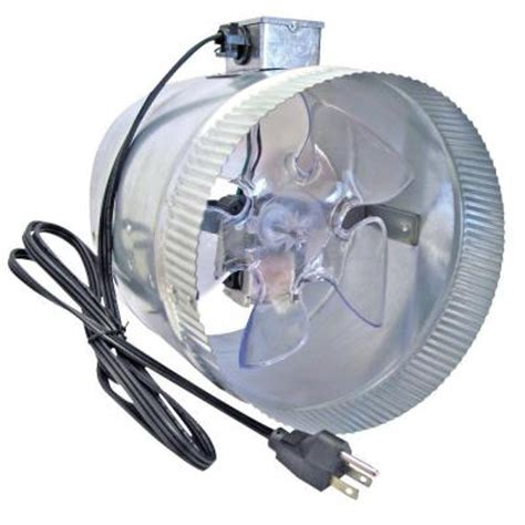 inline duct fan home depot suncourt corded 8 in in line duct fan db208 crd the