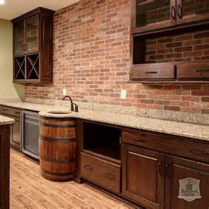 Home Bar Sink The Exposed Brick Wine Barrel Sink Look Great Maybe I
