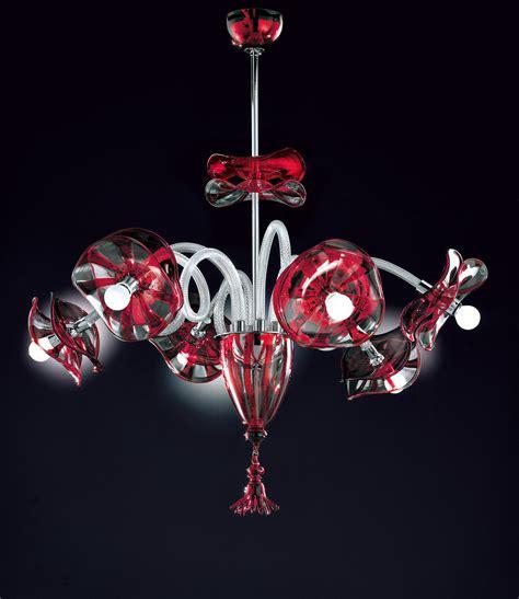 red chandeliers with varied lighting red clear modern venetian murano glass chandelier dml512k6