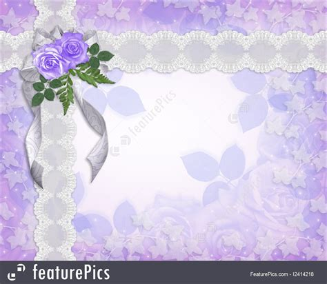 Wedding Anniversary Card Borders by Wedding Invitation Floral Border Lavender Roses Illustration
