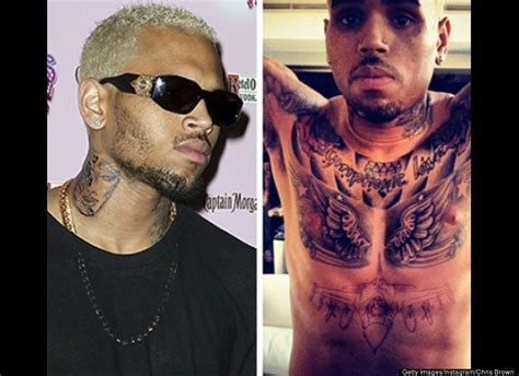 chris brown removes tattoo d removes of ex huffpost