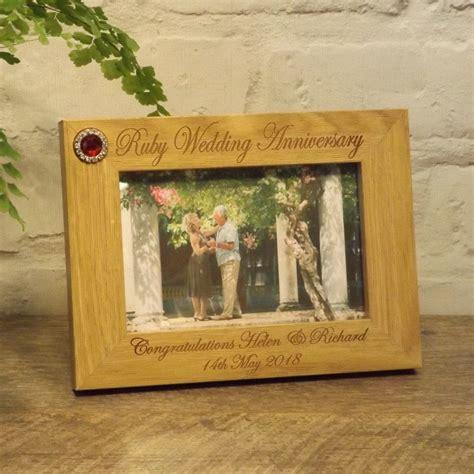 Alised Th Ruby  Ee  Wedding Ee    Ee  Anniversary Ee   Photo Frame X