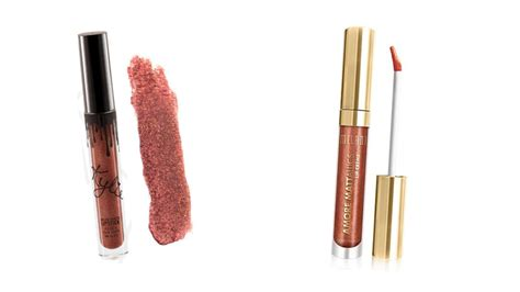 Milani Mattallics Lip Creme Dramatic 63 dupes for the lip kit lipsticks