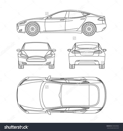how to draw blueprints plan view stock photos images pictures car