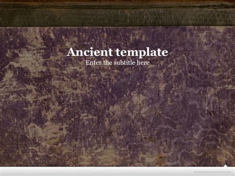 free ancient powerpoint template