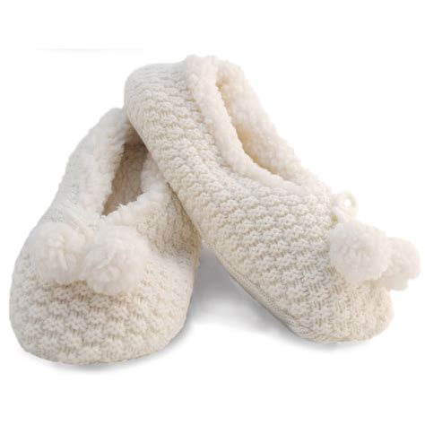 womens fleece slipper socks womens fleece lined knitted slipper socks with grip