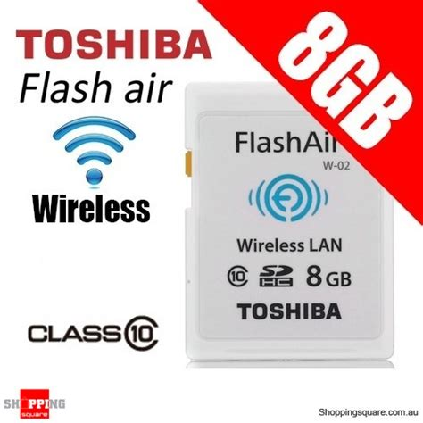 Memory Card Toshiba 8gb Class 10 Toshiba 8gb Flashair Wireless Data Transfer Class 10 Sd