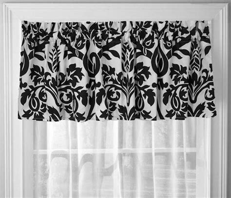 Black And White Window Valance Black And White Zeus Damask Window Treatment Valance 18 Quot X 70 Quot