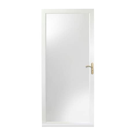 door 3000 series with low e glass emco 34 in x 80 in 400 series white universal self