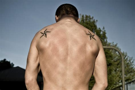 5 point star tattoo nautical tattoos for guys