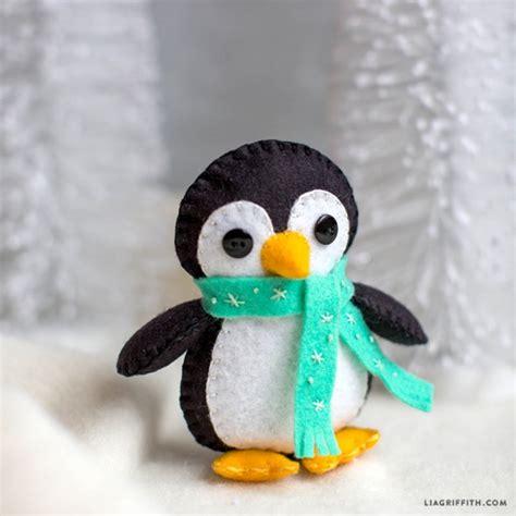 pattern felt penguin winter penguin felt stuffie by lia griffith project