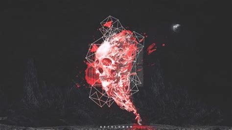 Skull Space getslower skull noisia space hd wallpapers desktop