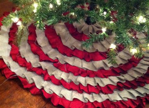 holiday craft ideas no sew ruffle tree skirt huffpost