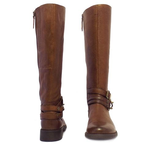 brown knee high boots gabor bluebell modern knee high boots in brown leather
