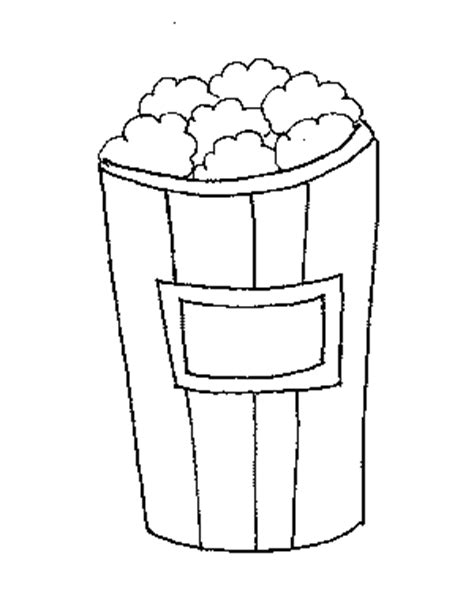 popcorn coloring pages preschool coloring pages