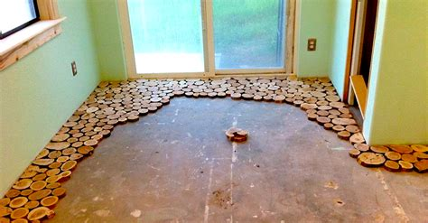 cool flooring cordwood construction diy littlethings