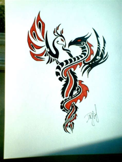 tattoo tribal dragon designs and intertwined tattoos