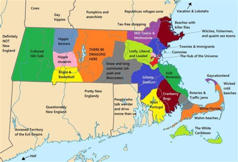 Massachusetts Meme - 5 hilarious maps of massachusetts