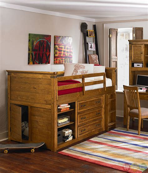 beautiful pine bedroom sets on bryce canyon pine 6 piece bryce canyon heirloom pine mid loft twin youth bed