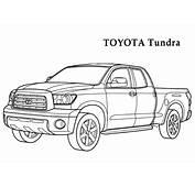 Раскраска Тойота Тундра  раскраски машины