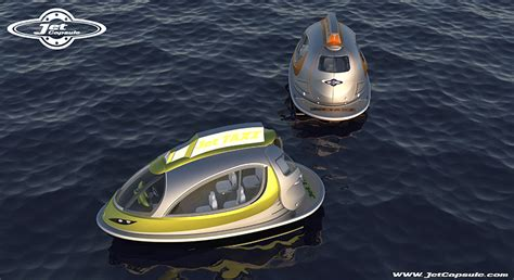 designboom jet capsule jet capsule water boats proposes private taxi versions