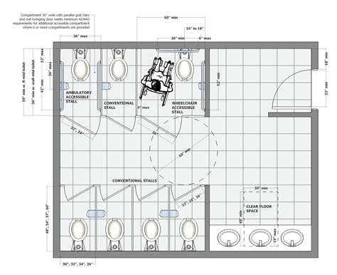 Bath & Shower: Interesting House Plan Handicap Bathroom