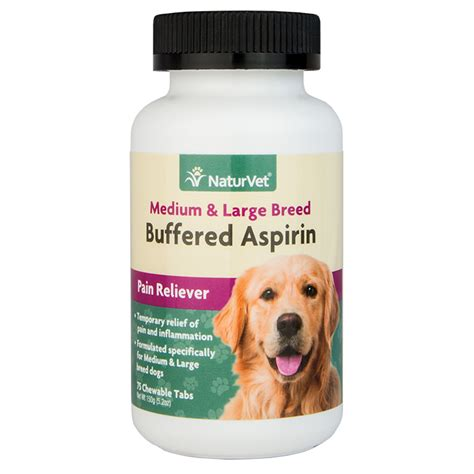 is aspirin safe for dogs buffered aspirin medium large breed naturvet