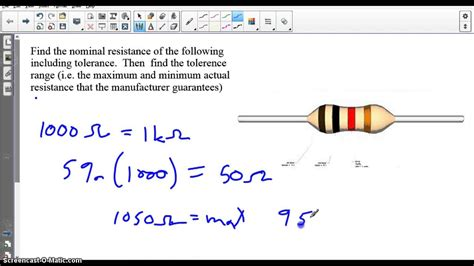electronics resistor tolerance electronics resistor tolerance 28 images qcr electronic components 1 2 watt 500 ohm fixed