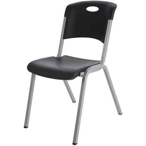 Black Plastic Chairs by Lifetime Stacking Chairs 480310 4 Pack Black Plastic