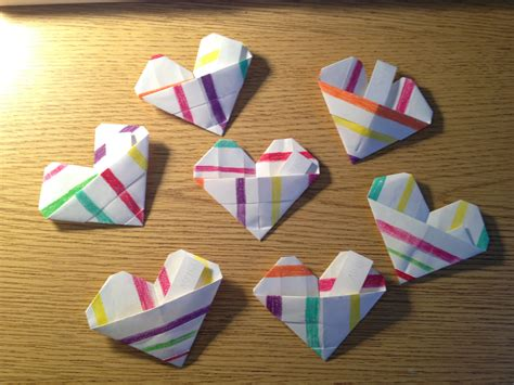 Origami Pockets - origami pocket hearts college canvas