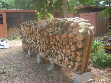 firewood rack using no tools all