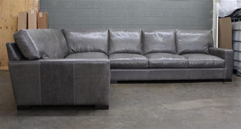 braxton sectional sofa raf braxton leather l sectional in glove mont blanc
