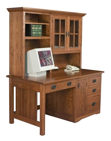Mission Desk With Hutch Office Furniture Solid Wood Mission Computer Desk With Hutch Mission Computer Desk With Hutch