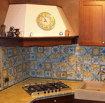 Handmade Italian Tiles - handmade italian tiles kitchen backsplash tile panels