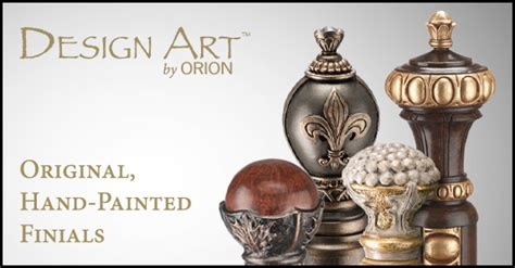 design art by orion original hand painted finials from design art