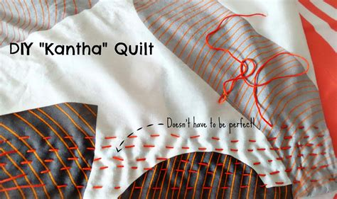 Quilt Diy by Kantha Quilt Running Stitch Tutorial