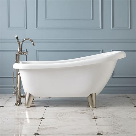 modern clawfoot bathtub alden acrylic slipper tub modern feet bathroom