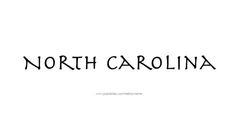 north carolina tattoo designs carolina usa state name designs tattoos