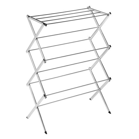 honey can do commercial chrome accordion drying rack