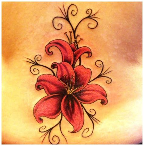 small lily flower tattoos small flower tattoos search tatoos