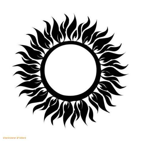 cool sun tattoo designs cool tribal sun design