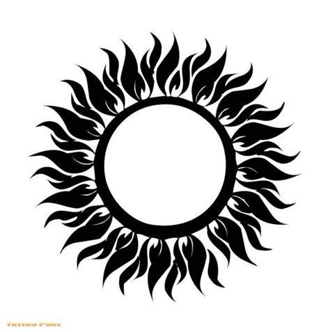 Cool Tribal Sun Tattoo Design