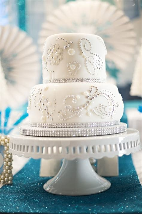 Turquoise And White Wedding Decorations Sparkle Glitz Amp Glam Frozen Party Ideas Creative Juice