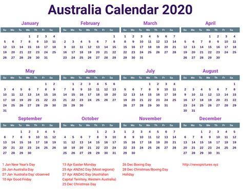 australia  calendar printcalendarxyz