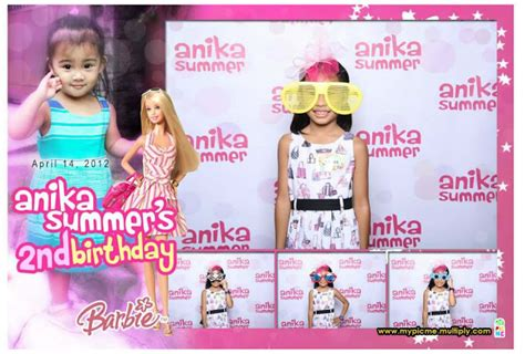 barbie photo booth layout anika s second birthday the photobooth